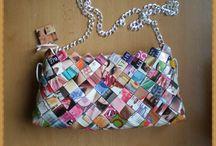 Kabelky-Candy bag / skládané kabelky z papíru