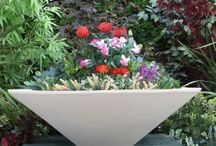 Stone Garden Planters / The Robie House is certainly the most renowned Frank Lloyd Wright concrete reproduction produced by Nichols Bros. Stoneworks. The Fredrick C. Robie house in Chicago is an iconic Prairie House design. http://www.thegardenfountainstore.com/robie-house-garden-planter