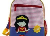 Toddler Backpack / Perfect size for preschool backpacks, dance classes or anywhere out and about! Hold extra clothes, small school supplies, a snack and a favourite small toy.  Our spacious backpack has a large zip opening along the top, top hook for easy hanging, handy front zippered pocket and adjustable shoulder straps for comfortable carrying.  We embroider with any name, up to 10 characters.  Maesurement : 24 x 9 x 30 cm.  Materials : Made of thick cotton & embroidered denier polyester.