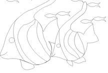 Стежки одеял Животные, Птицы, Рыбы, Насекомые (Quilt: animals, birds, fishes, insects)