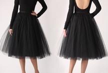 black tull skirt