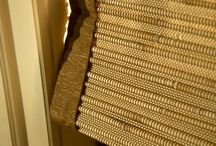 Natural Woven Shades / Natural Woven Shades are in fashion with natural materials and a warm color pallet.