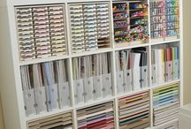 Scrap book room organization