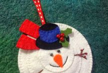Christmas Felted ornaments
