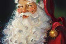 Christmas Art, Santas, etc. / by Santa James Andrews