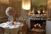 Real Wedding / Centrotavola luxury in rose