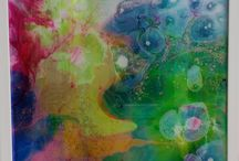 Amy Richards / Amy Richards is a Melbourne-based artist who explores colour and texture in her painting by pouring resin directly onto the canvas, layer by layer. She is constantly inspired by the unpredictability of the medium and feels it is the perfect tool for creating abstract works. View or buy her full collection here: http://platformstore.com.au/collections/amy-richards