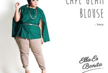 2015 - Cape Glam Blouse / Cape blouse which specially designed for sophisticated curvy women originally made by Indonesian Designer & Local Brand: Ella Es Bonita.