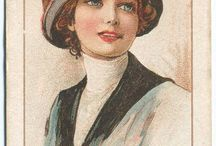 cigarette cards ~ beauties