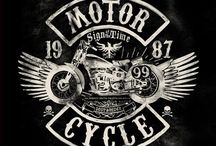 20 Cool Motorcycle Culture Hand Lettering Illustrations:
