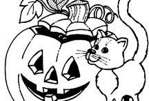 Halloween värityskuvia