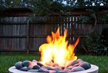 Outdoor furniture / Outdoor gas fire