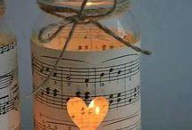 RECICLADO frascos floreros velas decorar