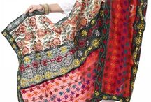 Phulkari Dupattas & Stoles / Colorful & Hand-Crafted Phulkari Dupattas & Stoles