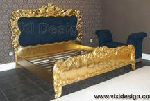 Gold Leaf Furniture / Luxury gold leaf furniture manufacturer Indonesia