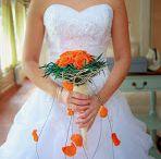 Bouquet de mariée en fleurs stabilisées / Bouquet de mariée en fleurs stabilisées