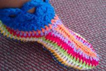 zapatillas y calcetas