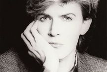 """""""We are blacked out in visions of China tonight"""" (David Sylvian) / Photos of David Sylvian, singer of the band Japan. (Title quote from """"Visions of China"""" by Japan)"""