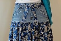gonne jeans riciclato