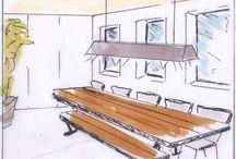 sketching interieur