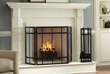 Fireplace heating AC