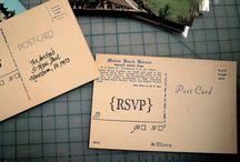 Postkarten und Umschläge
