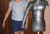 Body model....duct tape