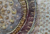 Fibre art stitching circles