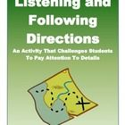 Following directions/listening-social work / by Brooke Grenier