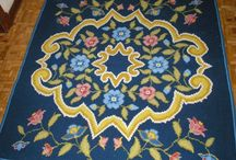 Arraiolos / Tablero dedicado a la técnica de arraiolos, básicamente alfombras, tapices, cojines, etc, todo realizado con el bordado de arraiolos.