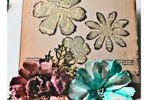 tattered florals Tim Holz die