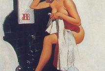 Pin up vintage bathroom