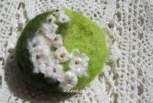 gyöngyvirág nemez szappan