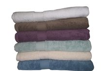 Towels / 100% Cotton towels with beautiful colors. Additional absorbing quality and fast drying.
