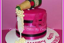 Champagne bottle & bucket cake