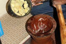 African kitchen / Clay, mud african patterns, crockery.........