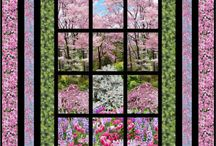 лоскутные картины / цветы, пейзажи ,бытовые картинки