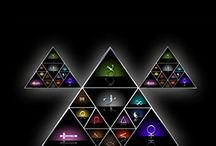 The Altar Shields / A  collection of colorful digital images that represent each individual person in the Altar Pyramid by Solitaire Parke