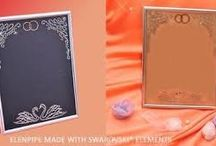 Photoframes Elenpipe hand embellished with Swarovski® crystals