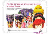 Fiesta de Princesas Disney / Ideas y artículos para tu fiesta de Princesas Disney como Jazmín, Cenicienta, Bella Durmiente, Ariel y más.