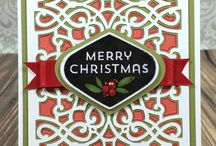 Christmas Cards / Selection of Pinned Xmas Cards