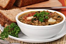 Lentils & Quinoa,Chickpeas and  grains