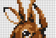 Perler beads and Cross stitch (Templates, Ideas)