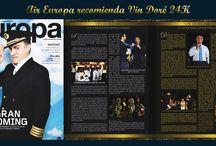 Air Europa de nuevo recomienda Vin Doré 24K / Air Europa recomienda Vin Doré 24k  http://vindore.com/vino-espumoso-con-oro-24k.html