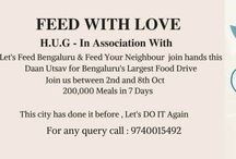 HUG feed with love recipes / A board dedicated to HUG feed with love initiative organised by Bangaloreans with the mission to feed 2 lakh people.