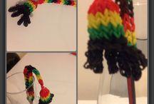 Pencil Danglers / Pencil Danglers made with original rainbow looms latex-free