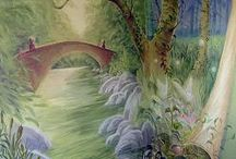 MURALS by Charles ANDRADE / Charles Andrade creates innovative, one-of-a-kind custom murals designed for residential and commercial spaces. Andrade also offers faux finishes and a full range of decorative painting services. E-mail info@lazure.com to discuss your needs in more detail.