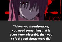 Dark/Sad Anime Quotes / Anime quotes that are sad, dark, and emotional
