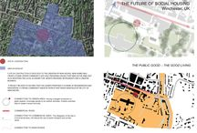Week 2 12.03.2017 / The board is about a new construction site in Winchester, England. The diagrams in the map are to explain how a good location for a site in construction, can help the development of a good living concept.