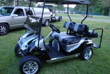 Custom Painted Golf Carts